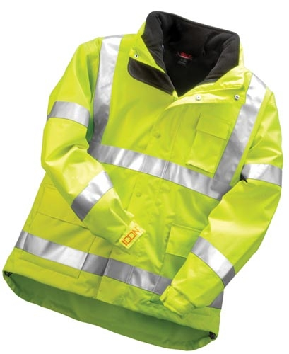 Icon Jacket With Attached Hood & Fleece Liner- Large - Ss037d-l - Clothing School Safety Clothing Icon Outerwear SS037D-L
