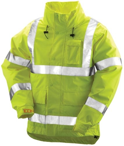 Icon Jacket With Attached Hood - Medium - Ss034d-m - Clothing School Safety Clothing Icon Outerwear SS034D-M