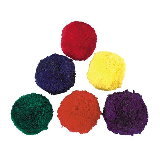 Sports & Fitness Physical Education & Sport Balls Therapy Balls - 15213 - Colored Fleece Ball Set 3 Inch 15213