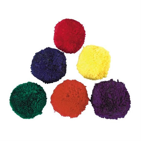 Sports & Fitness Physical Education & Sport Balls Therapy Balls - 15217 - Colored Fleece Ball Set 4 Inch 15217