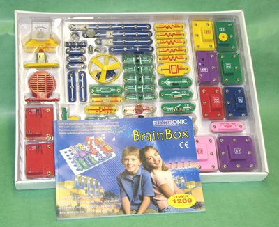 Learning: Science Physics Electricity Circuit Kits - Kt1101-4 - Brain Box Circuit Kit 1200 Experiments KT1101-4