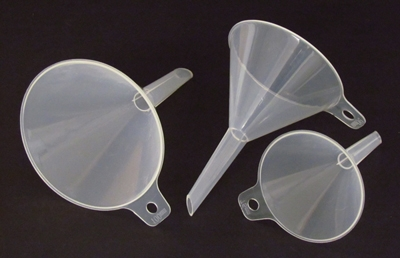 Learning: Science Lab Equipment & Supplies Funnels Accessories Plastic Funnels Standard Stem - 5440-23 - Funnel With Tab Polypropylene Plastic 90 Mm 5440-23