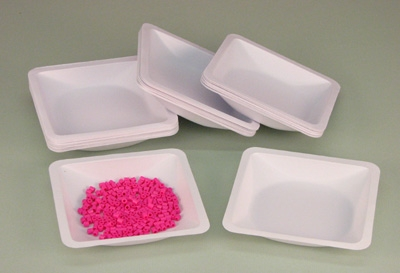 Learning: Science Balances Scales & Weights Weigh Boats Dishes - 99-3 - Weigh Boats Square 140 X 140 X 22 Mm L; Pk 100 - Pack 99-3