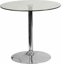 Facilities Restaurant Table Tops Restaurant Table Tops & Bases - Ch-7-gg - 31.5inch Round Glass Table With 29''h Chrome Base CH-7-GG