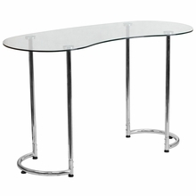 Facilities Furniture Computer Furniture Computer Workstations & Computer Desks - Nan-ylcd1235-gg - Contemporary Desk With Clear Tempered Glass NAN-YLCD1235-GG