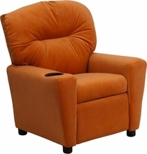 Facilities Recliners All Recliners - Bt-7950-kid-mic-org-gg - Contemporary Orange Microfiber Kids Recliner With Cup Holder BT-7950-KID-MIC-ORG-GG