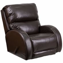 Flash Furniture WA-4990-620-GG Contemporary Ty Brown Leather Rocker Recliner