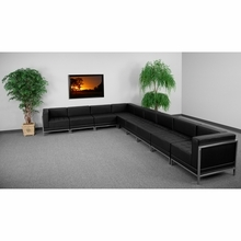 Hercules Imagination Series Black Leather Sectional Configuration, 9 Pieces - Flash Furniture ZB-IMAG-SECT-SET3-GG ZB-IMAG-SECT-SET3-GG
