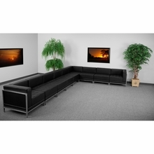 Hercules Imagination Series Black Leather Sectional Configuration, 9 Pieces - Flash Furniture ZB-IMAG-SECT-SET4-GG ZB-IMAG-SECT-SET4-GG