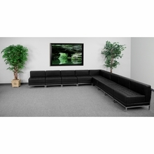 Hercules Imagination Series Black Leather Sectional Configuration, 9 Pieces - Flash Furniture ZB-IMAG-SECT-SET7-GG ZB-IMAG-SECT-SET7-GG