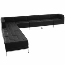 Hercules Imagination Series Black Leather Sectional Configuration, 9 Pieces - Flash Furniture ZB-IMAG-SECT-SET11-GG ZB-IMAG-SECT-SET11-GG