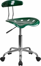 Vibrant Green and Chrome Computer Task Chair with Tractor Seat LF-214-GREEN-GG by Flash Furniture