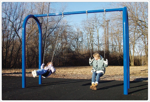 Sports & Fitness Playground Equipment Playground Swings - 581-702 - 5 Inch Od Arch Post Swing- 2 Seat 581-702