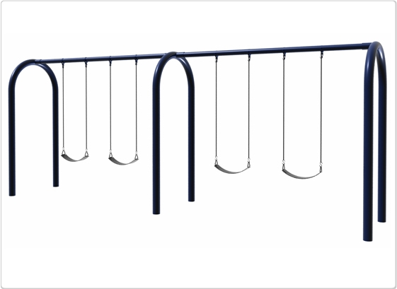 Sports & Fitness Playground Equipment Playground Swings - 581-704 - 5 Inch Od Arch Post Swing- 4 Seat 581-704