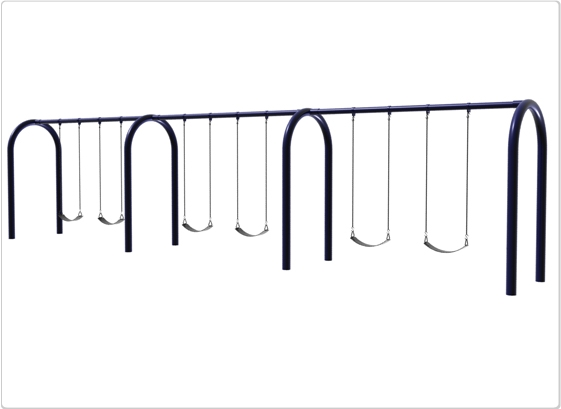 Sports & Fitness Playground Equipment Playground Swings - 581-706 - 5 Inch Od Arch Post Swing- 6 Seat 581-706