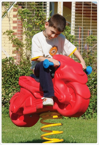 Preschool Learning: Play Playground Riding & Spring Toys - 902-791 - Motorcycle Spring Rider 902-791