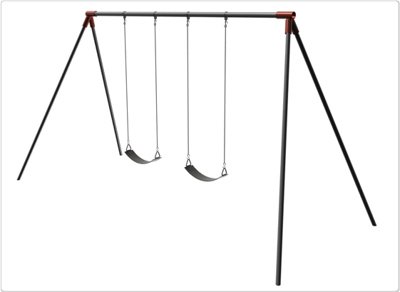 Primary Bipod Swing- 10 Foot; 2 Seat - 581-218x - Outdoor Play Equipment Swing Sets & Playsets Primary Swings 581-218X