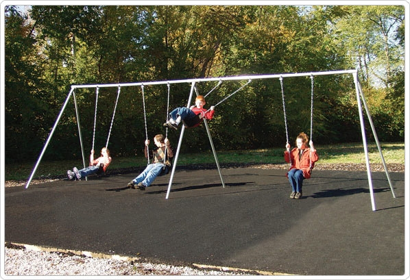 Primary Bipod Swing- 10 Foot; 4 Seat - 581-418x - Outdoor Play Equipment Swing Sets & Playsets Primary Swings 581-418X