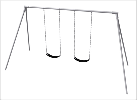 Sports & Fitness Playground Equipment Playground Swings - 581-218 - Primary Bipod Swing- 8 Foot; 2 Seat 581-218
