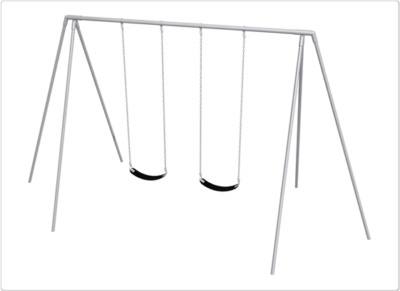 Sports & Fitness Playground Equipment Playground Swings - 581-220 - Primary Tripod Swing- 10 Foot; 2 Seat 581-220