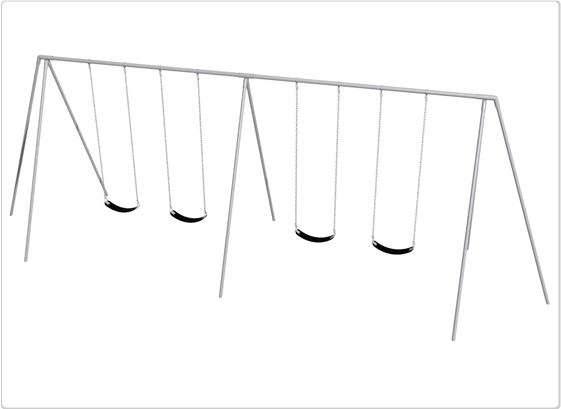 Sports & Fitness Playground Equipment Playground Swings - 581-420 - Primary Tripod Swing- 10 Foot; 4 Seat 581-420