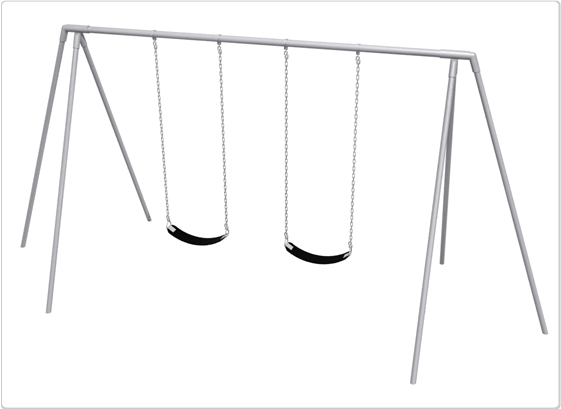 Sports & Fitness Playground Equipment Playground Swings - 581-2208 - Primary Tripod Swing- 8 Foot; 2 Seat 581-2208