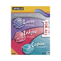 Learning: Science General Science Overhead Transparencies Deluxe Transparencies - 1445201 - Apollo Multifunction Universal Film Without Stripe; 50 Sheets 1445201
