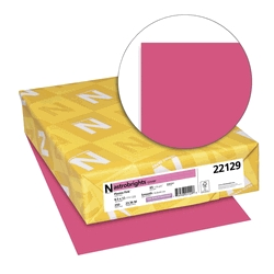 Learning: Supplies Office Paper & Printer Learning Colored Copy Paper - 1438740 - Astrobrights Premium Copy Paper; 8-1/2 X 11 In; 24 Lb; Plasma Pink; Pack Of 500 1438740