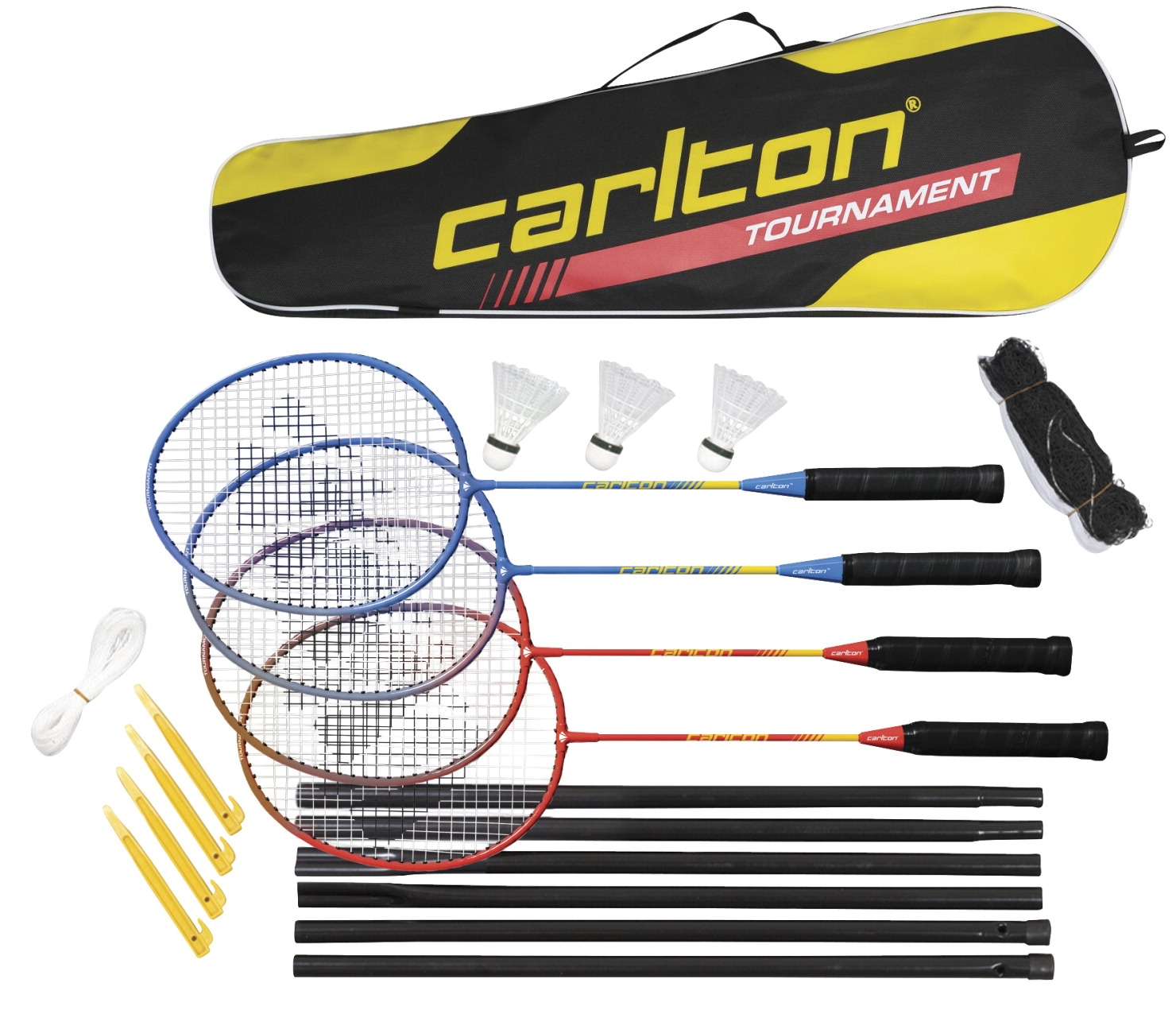 Facilities Tv & Video Blu Ray Players - 1393121 - Carlton Badminton Championship 4-player Set 1393121