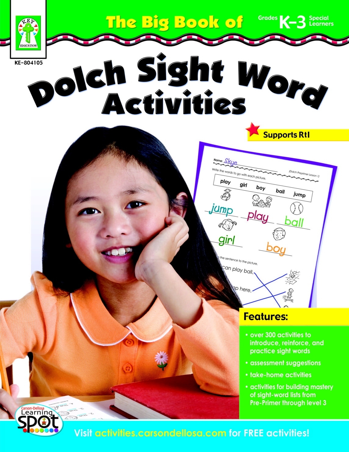 Learning: Classroom Reading & Writing Resources Sight Word Activities - 1432573 - Carson Dellosa The Big Book Of Dolch Sight Word Activities Book; Grade K To 3 1432573