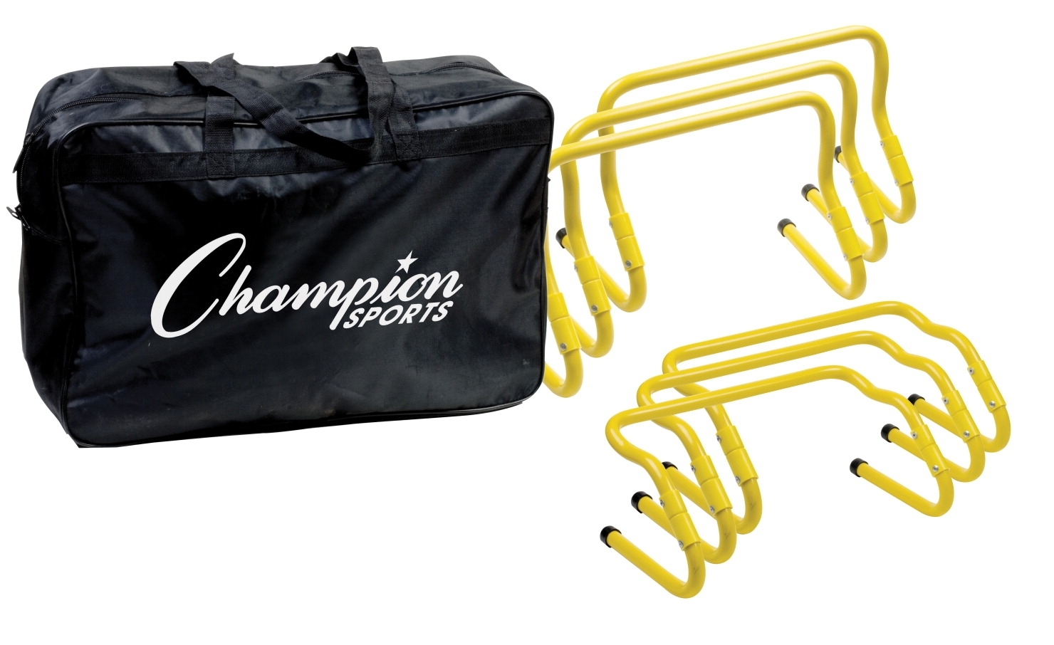 Safety Physical Education & Sport Physical Education Resources Protective Equipment - 1363156 - Champion Adjustable Hurdle Kit With Carrying Bag 1363156