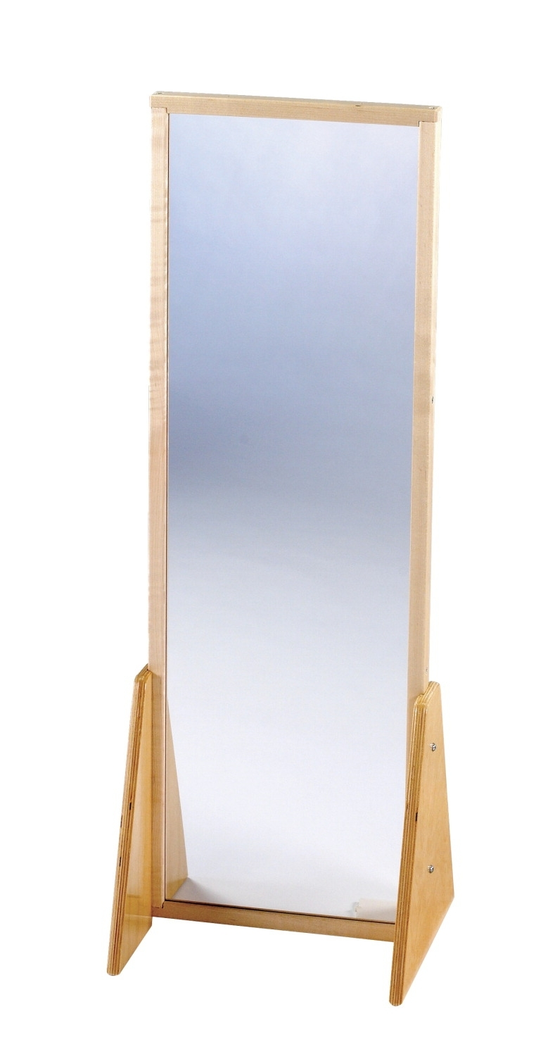 Safety Safety: Equipment Glassless Mirrors Standard Glassless Mirrors - 075233 - Childcraft 2 Position Acrylic Mirror; Small; 13-1/4 W X 11-3/4 D X 36-1/2 H In 075233