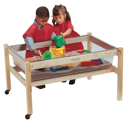 Facilities Furniture Tables Lounge Tables & Reception Tables - 075012 - Childcraft Sand And Water Table Replacement Tub; Clear; 40-1/4 W X 26-5/8 D X 9-1/8 H In 075012