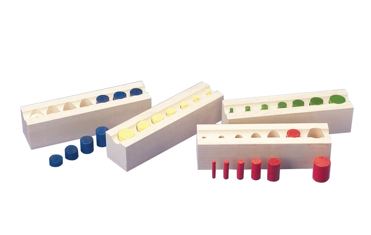 Learning: Play Early Childhood Active Play Gross Motor - 1335989 - Colored Cylinder Blocks 1335989