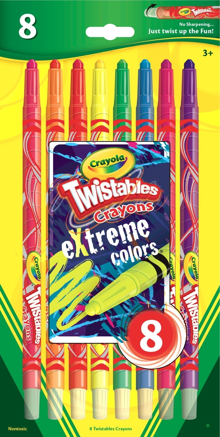 Learning: Supplies Art & Craft Supplies Crayons Specialty Crayons - 1364571 - Crayola Twistables Non-toxic Crayon Set; Assorted Extreme Color; Set Of 8 1364571