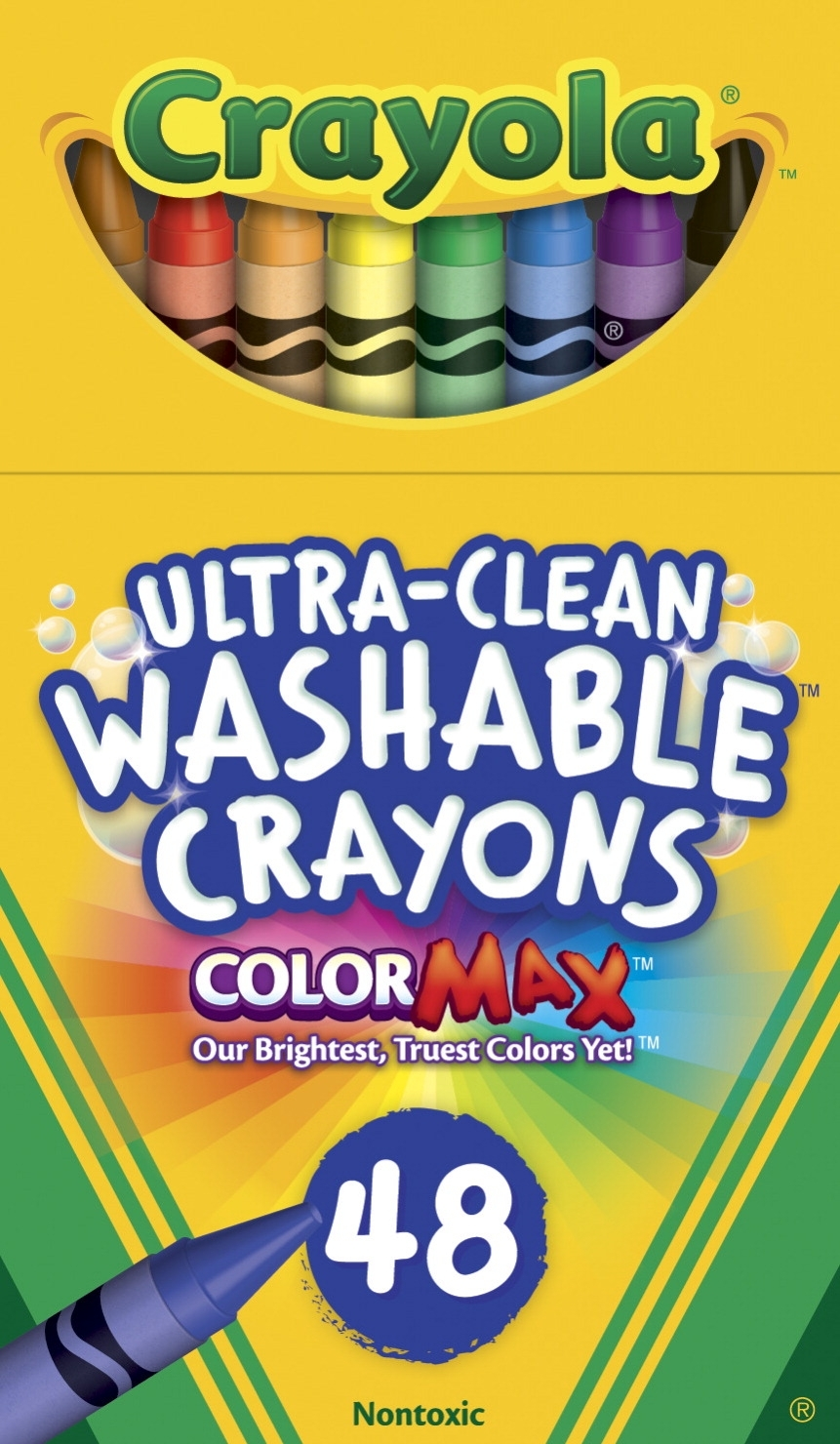 Learning: Supplies Art & Craft Supplies Crayons Standard Crayons - 1537146 - Crayola Ultra-clean Washable Crayons; Assorted Colors; Set Of 48 1537146