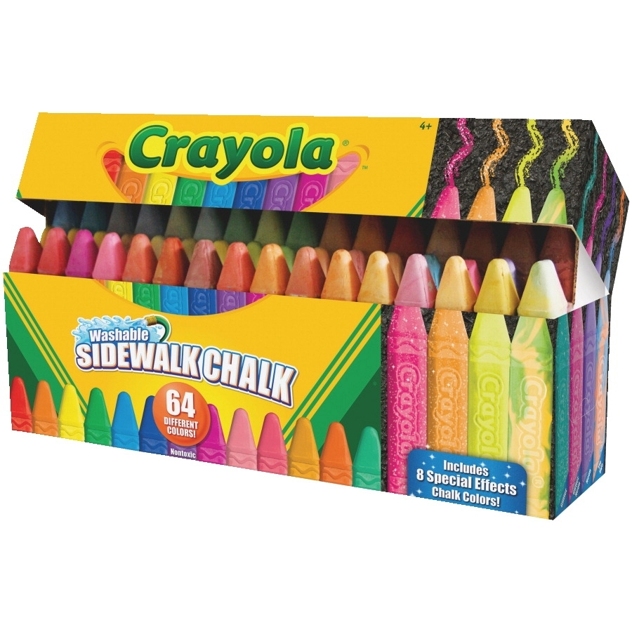 Learning: Supplies Art & Craft Supplies Chalk Sidewalk Chalk - 1561446 - Crayola Washable Sidewalk Chalk; Assorted Colors; Pack Of 64 1561446