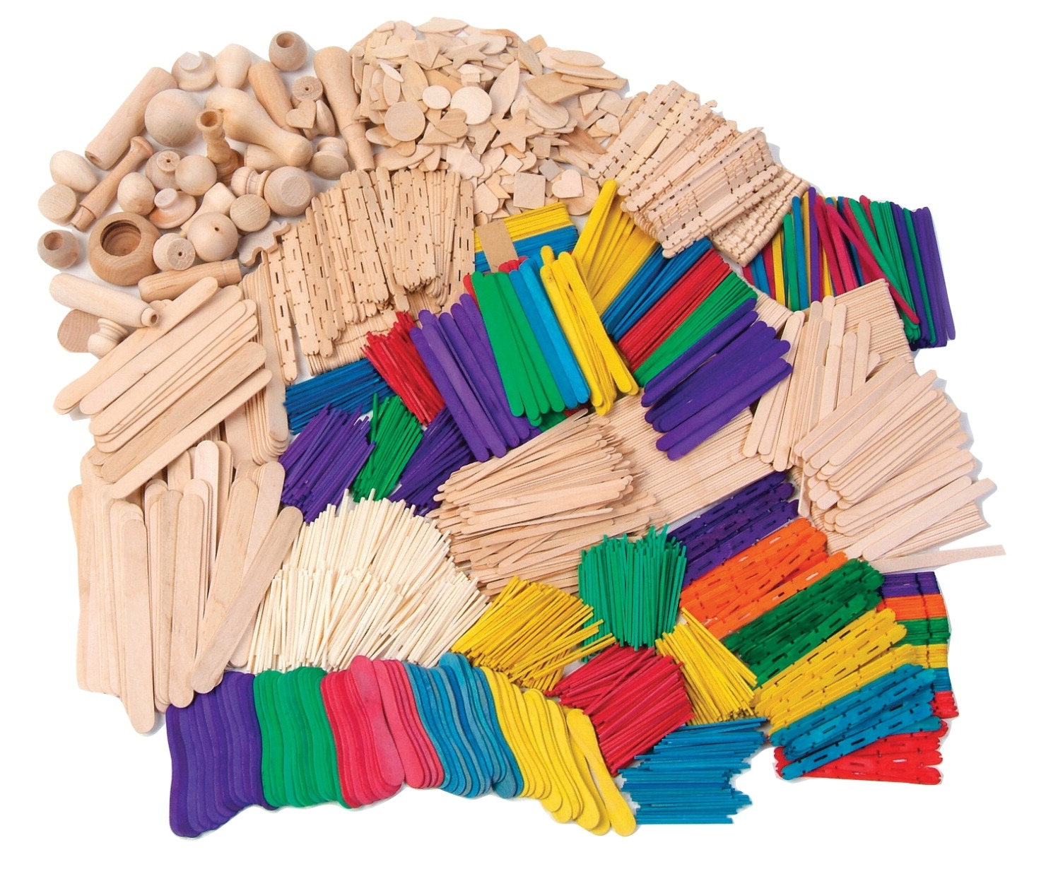 Learning: Classroom Arts & Crafts Crafts Woodcrafts - 041357 - Creativity Street Wood Craft Activity Kit; Assorted Colors; Pack Of 2100 041357