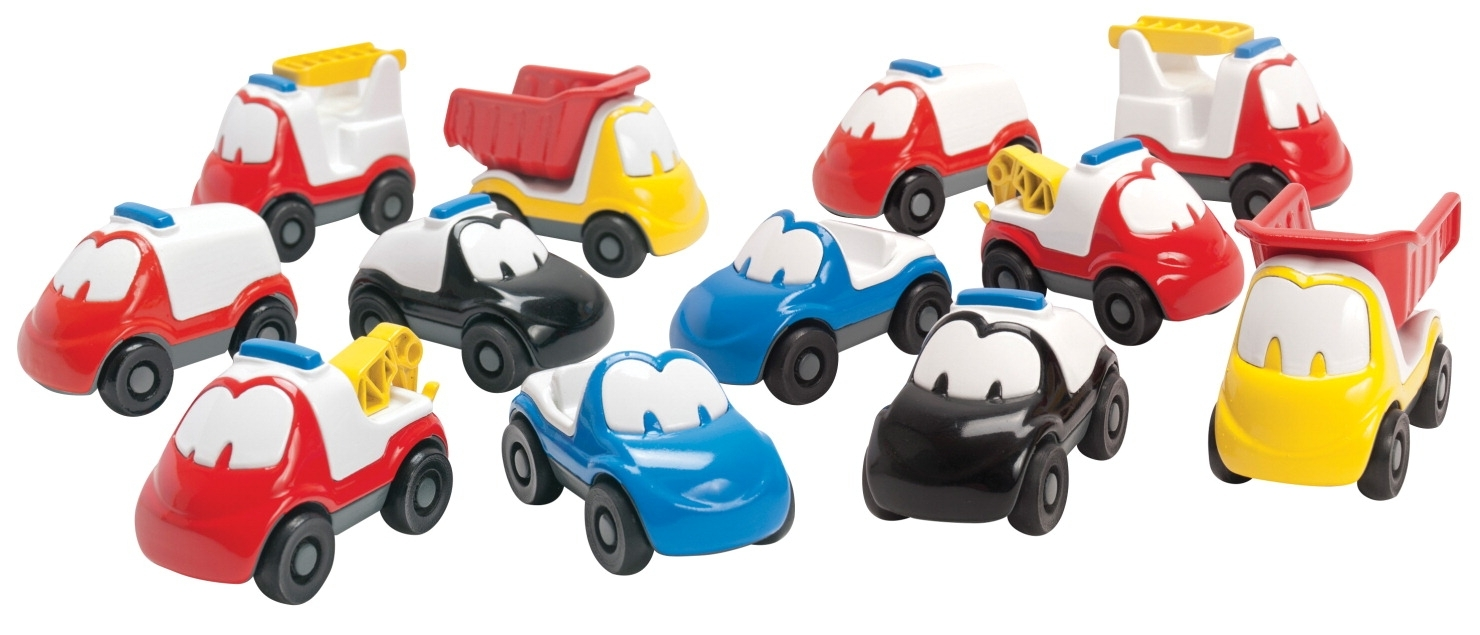 Learning: Play Early Childhood Active Play Gross Motor - 1413493 - Dantoy Fun Car Set; 12 Pieces 1413493