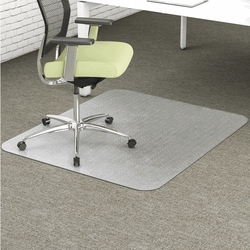 Facilities Furniture Office Chairs Chairmats - 1505230 - Deflect-o Environmat Low Pile Rectangular Chairmat; Pet; 36 X 48 In; Clear 1505230