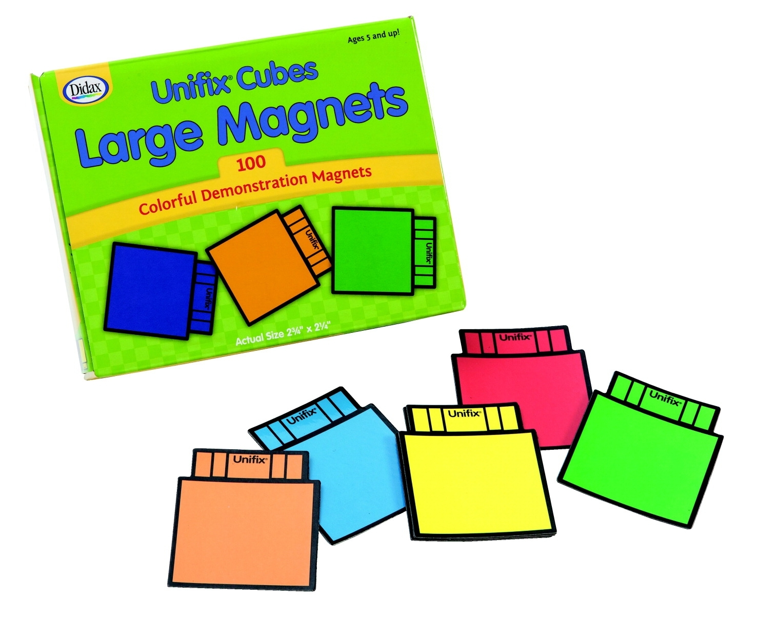 Learning: Science Physics Projects Lessons & Supplies Magnets & Magnetic Products - 210-0613 - Didax Unifix Large Math Magnet Set-assorted Color; Set Of 100 210-0613