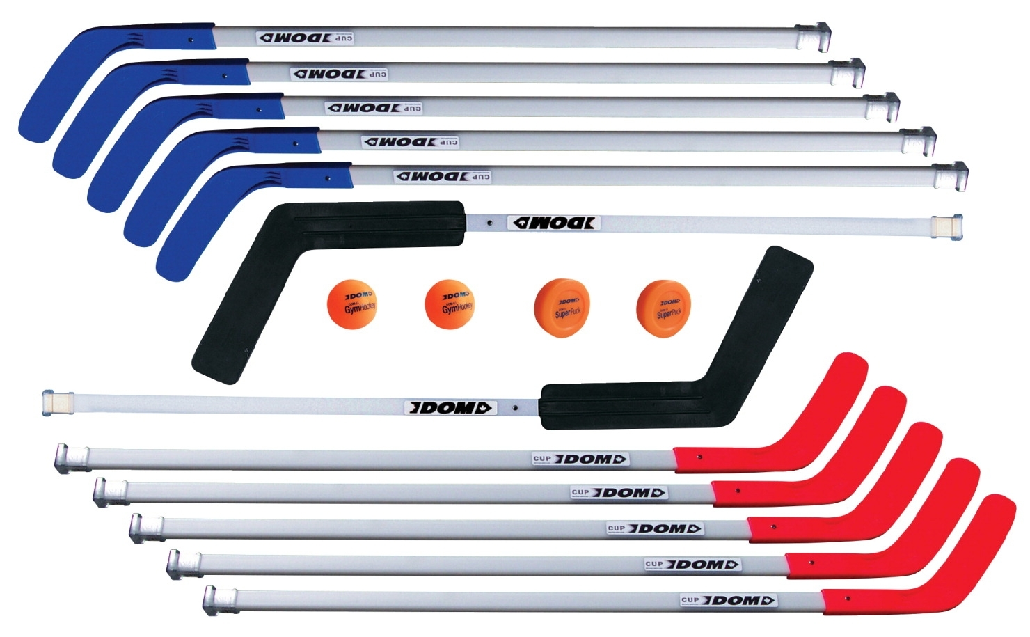 Sports & Fitness Physical Education & Sport Balls Field Hockey Balls - 007564 - Dom 47 In Hockey Cup C6 Set; Includes 8 Sticks; 2 Goalie Sticks; 2 Superpucks And 2 Balls; Grades 10 And Up 007564