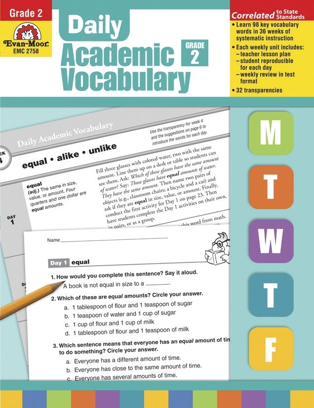 Learning: Classroom Reading & Writing Resources Vocabulary Activities & Books - 1463239 - Evan-moor Daily Academic Vocabulary; Teacher's Edition; Grade 2 1463239