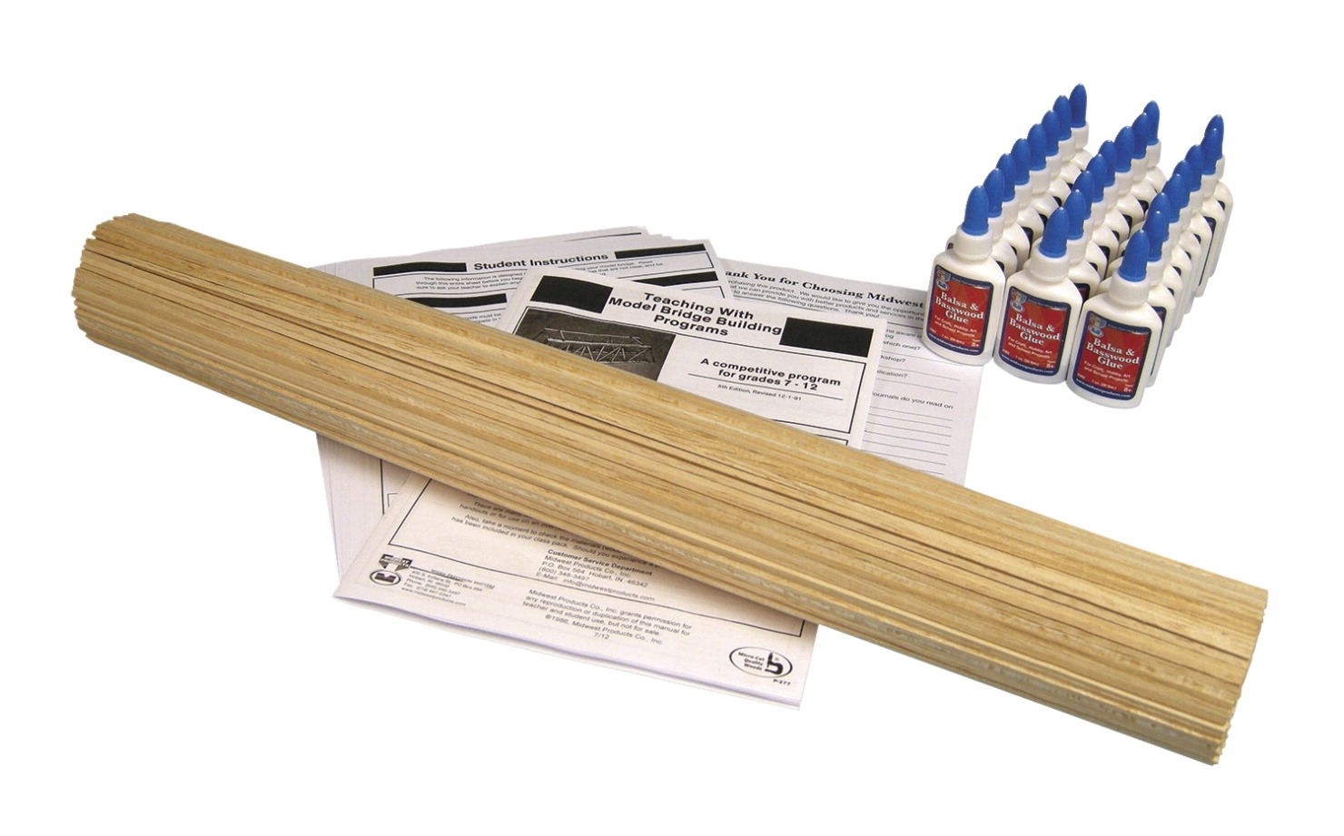 Sports & Fitness Physical Education & Sport Team Building Activities & Equipment Team Building Activities & Games - 571181 - Frey Scientific Balsawood Or Basswood Bridge Building Kit 571181