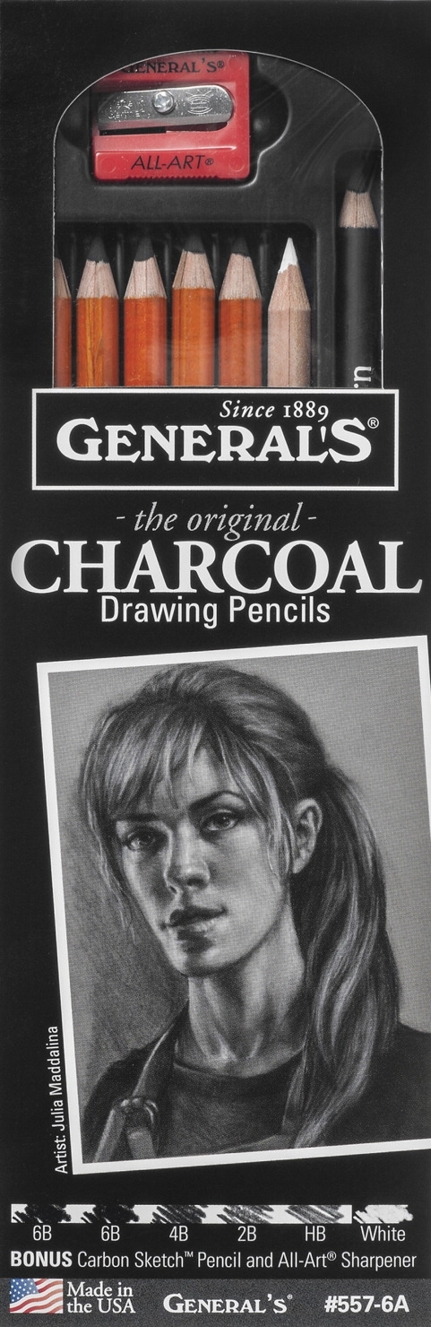 Learning: Supplies Art & Craft Supplies Drawing Tools & Supplies Charcoal & Graphite - 408354 - General's The Original Charcoal Pencils Drawing Set 408354