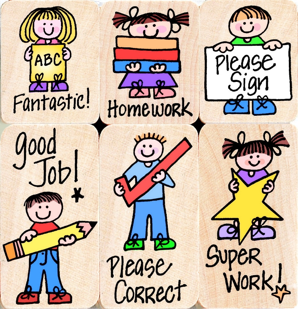 Learning: Supplies Classroom Supplies Awards & Incentive Award Stamps & Stamp Pads - 075683 - Hero Arts Rubber Woodblock Stamp Set; Paper Grading; Set Of 6 075683