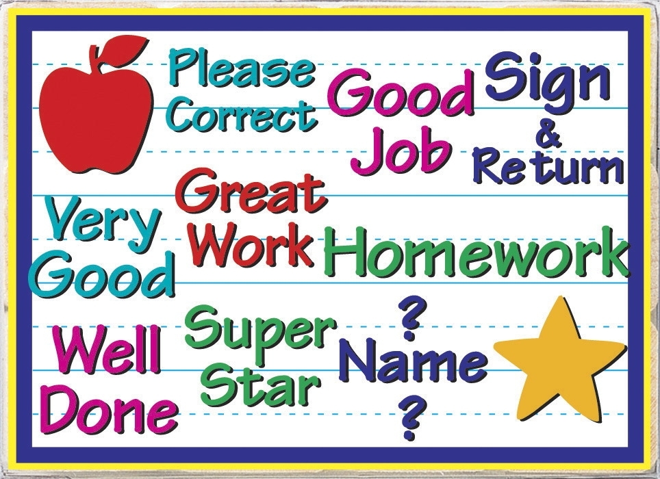 Learning: Supplies Classroom Supplies Awards & Incentive Award Stamps & Stamp Pads - 387217 - Hero Arts Rubber Woodblock Stamp Set For Teachers Messages From Your Teacher; Set Of 11 387217