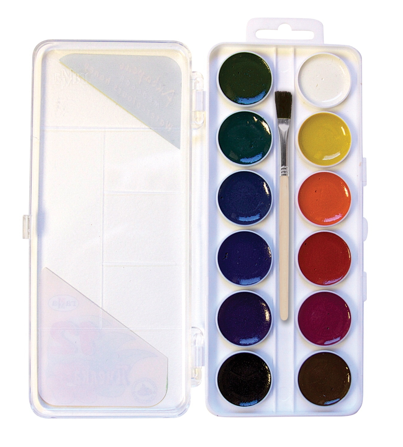 Learning: Classroom Arts & Crafts Paints Watercolor Paints - 1439137 - Jack Richeson Non-toxic Semi-moist Artists Watercolor Paint Set; Assorted Vibrant Color; Set Of 12 1439137
