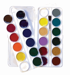 Learning: Classroom Arts & Crafts Paints Watercolor Paints - 1439138 - Jack Richeson Non-toxic Semi-moist Artists Watercolor Paint Set; Assorted Vibrant Color; Set Of 24 1439138