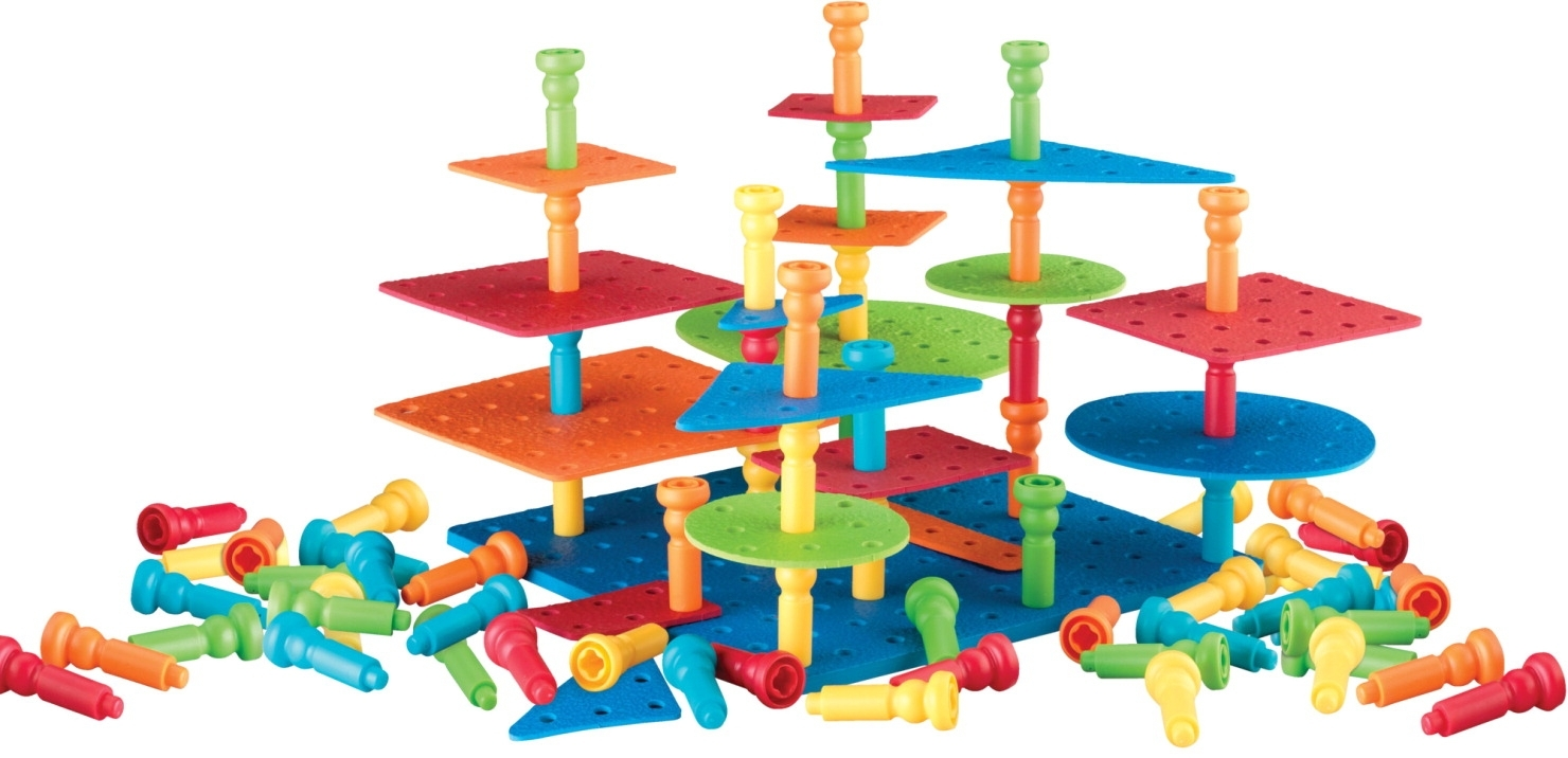 Learning: Play Early Childhood Active Play Gross Motor - 086263 - Lauri 3-dimensional Pegs Building Set 086263